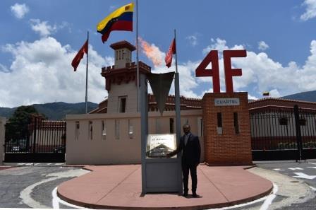 EMBAJADOR CARMELO MICHÁ NGUEMA MISÍ DE GUINEA ECUATORIAL RINDIÓ HONORES AL COMANDANTE HUGO CHÁVEZ EN EL CUARTEL DE LA MONTAÑA