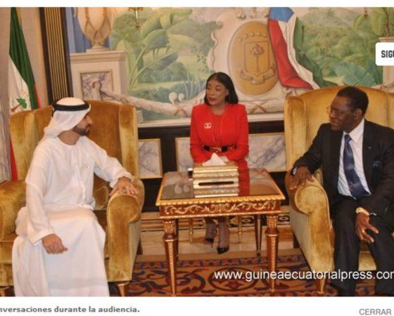 El Presidente de la República recibe al Príncipe de Dubái
