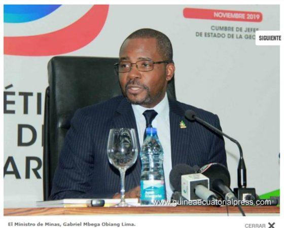 Rueda de prensa del Ministro de Minas sobre el Año Energético Guinea Ecuatorial 2019