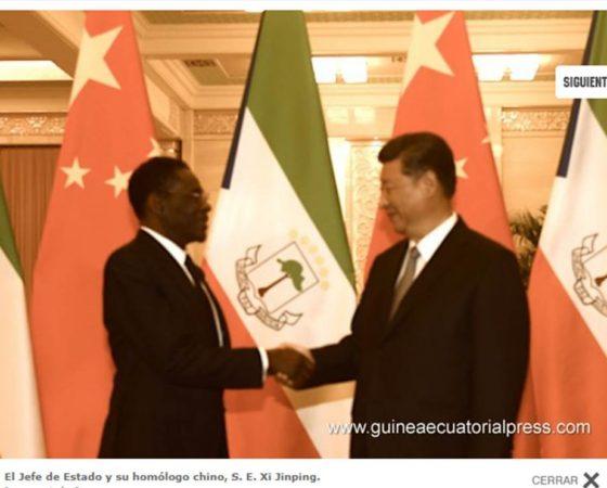 El Presidente de la República Popular China recibe a su homólogo ecuatoguineano