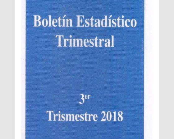 Boletín Estadístico Trimestral 3er Trimestre 2018