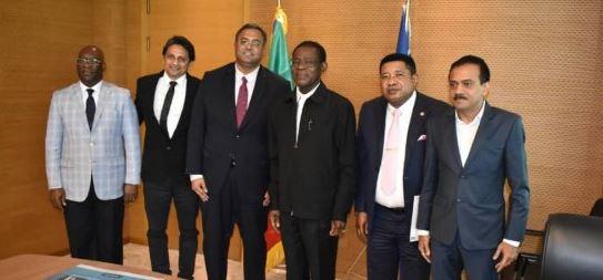 El Presidente recibe a una delegación empresarial de La India