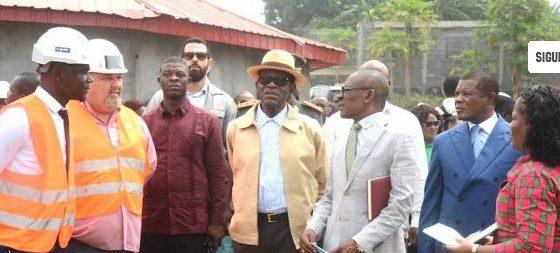 Visita presidencial a infraestructuras de la ciudad de Malabo